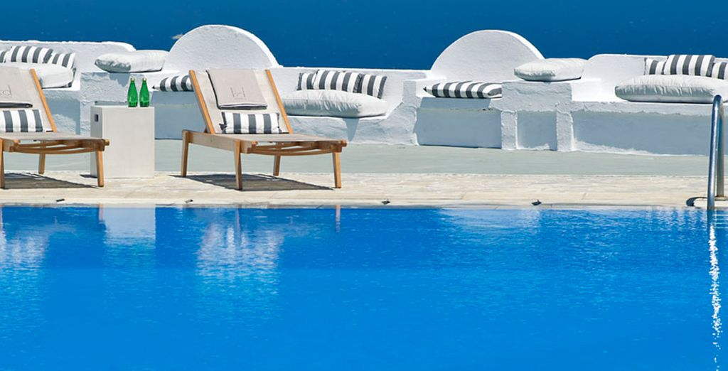 Each hotel has its own unique charm (pictured: Santorini Palace)