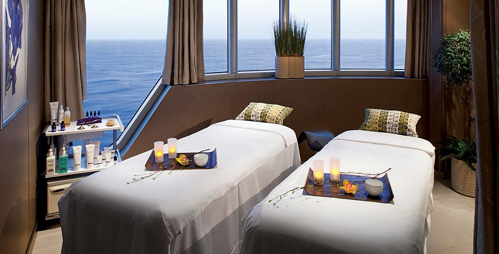 Indulge in a spa treatment when at sea...