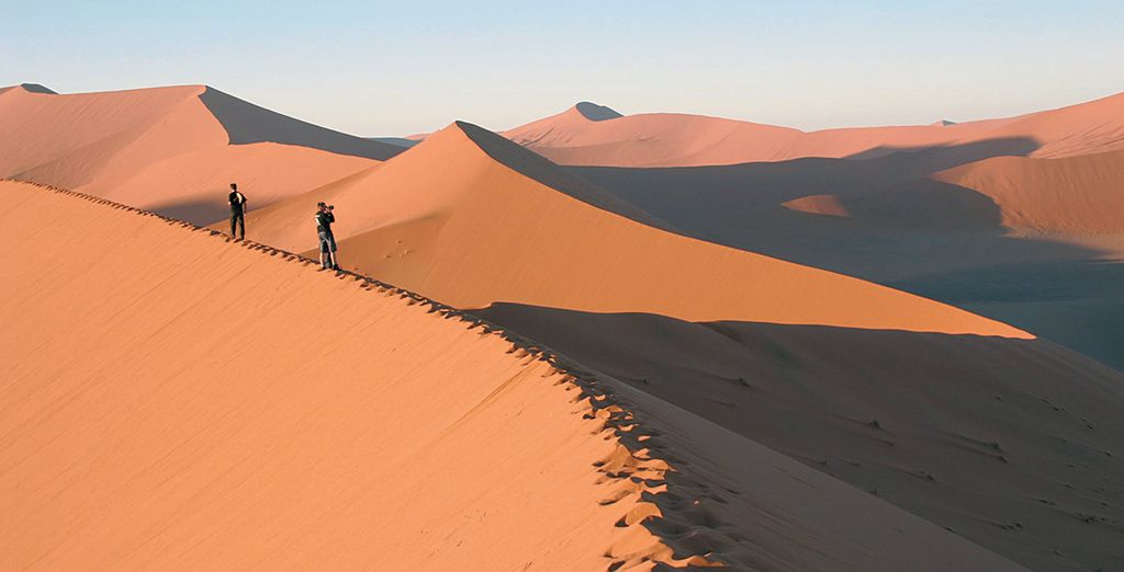 You will witness some of the country's most famous sights such as sand dunes at Sossusvlei...