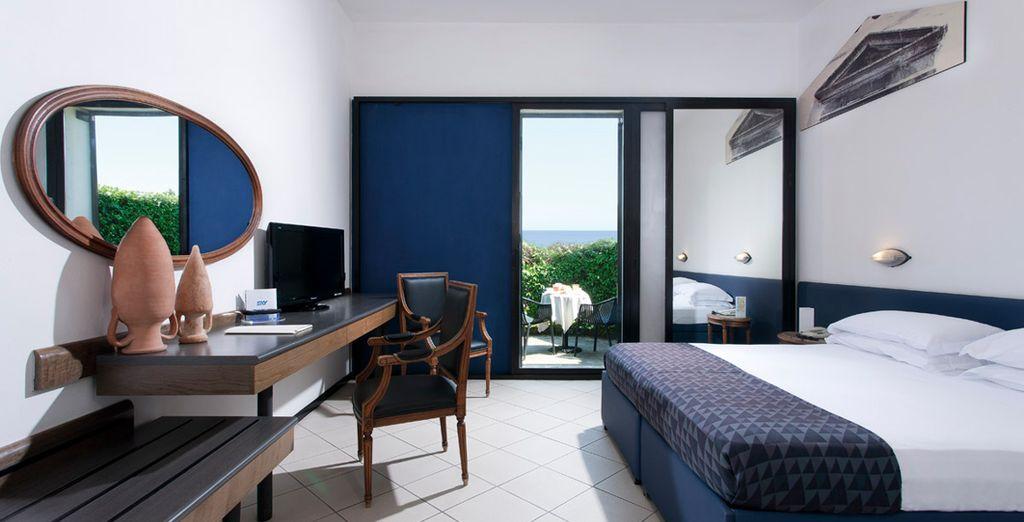 In a fresh, simple Standard Room