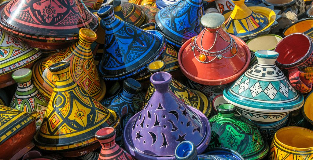 Continue north and stroll some time in the maze of souks