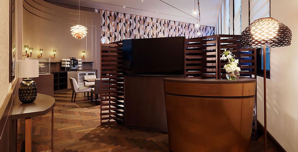 With exclusive Club Lounge access