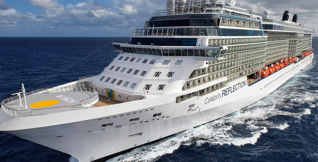 Then step aboard the Celebrity Reflection for a 10 or 11 night Mediterranean Cruise