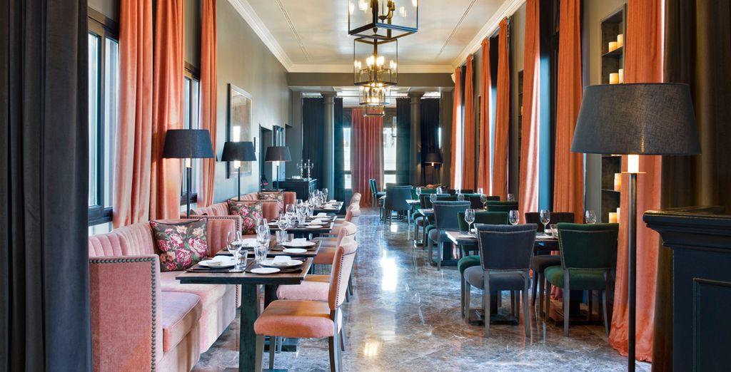 In the evening, enjoy a menu created by Ramón Freixa - 2 star Michelin chef