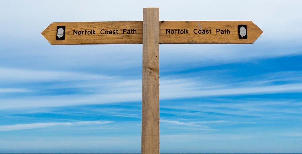 The Norfolk coastal path has some beautiful scenery