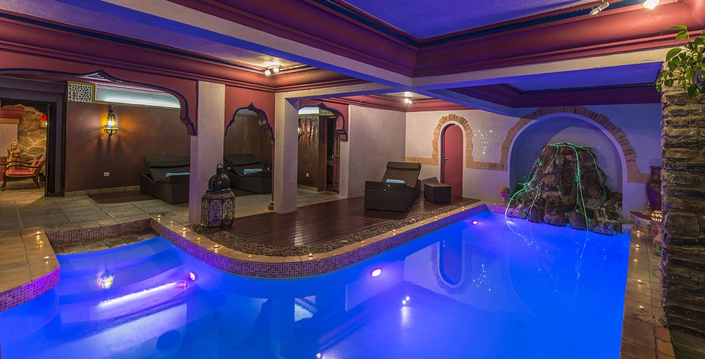 Followed by a dip in the cool indoor pool