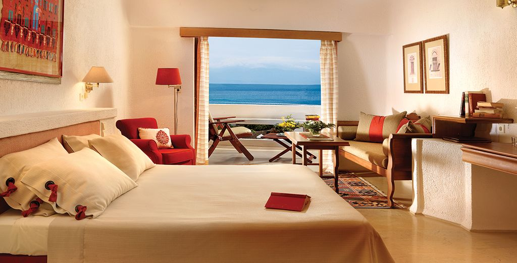 You will have a choice between a Twin Sea View Room