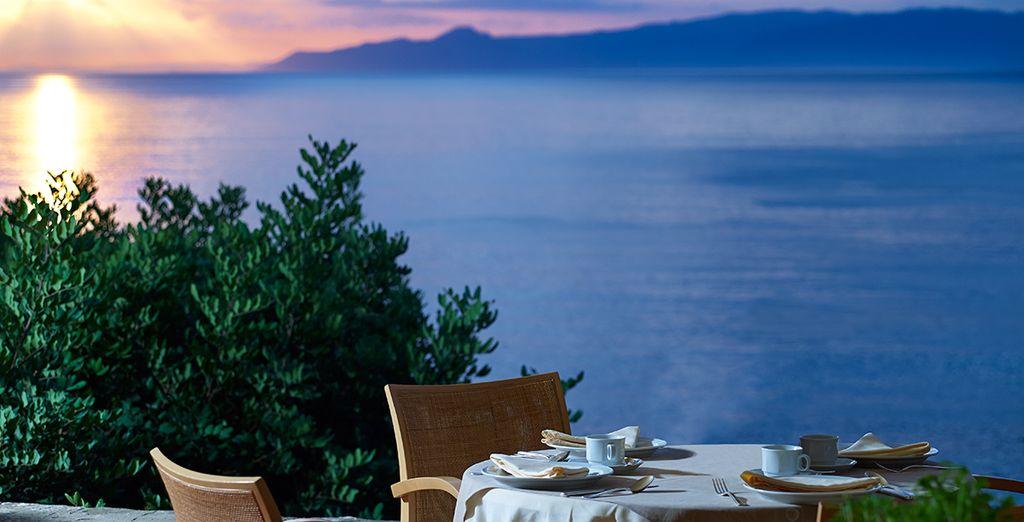 Enjoy romantic meals in numerous restaurants serving a range of cuisines