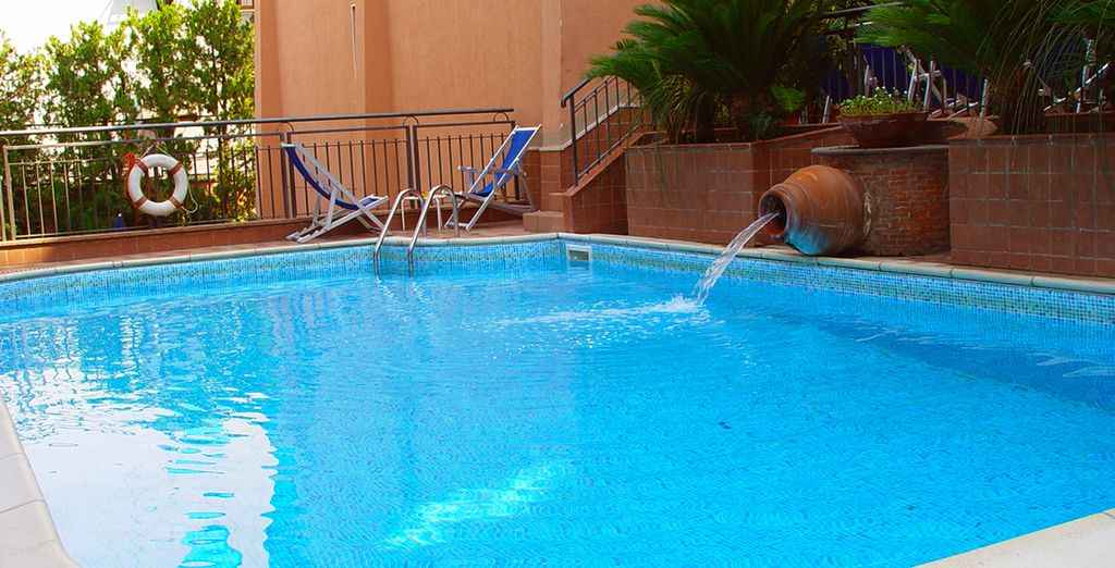 Cool off in the hotel swimming pool