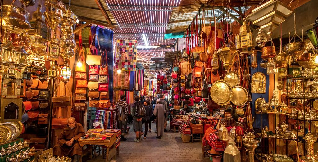 You will discover bustling souks