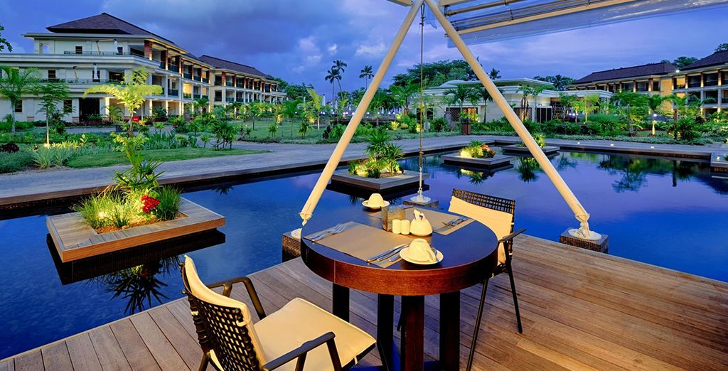 In the evening choose poolside dining...