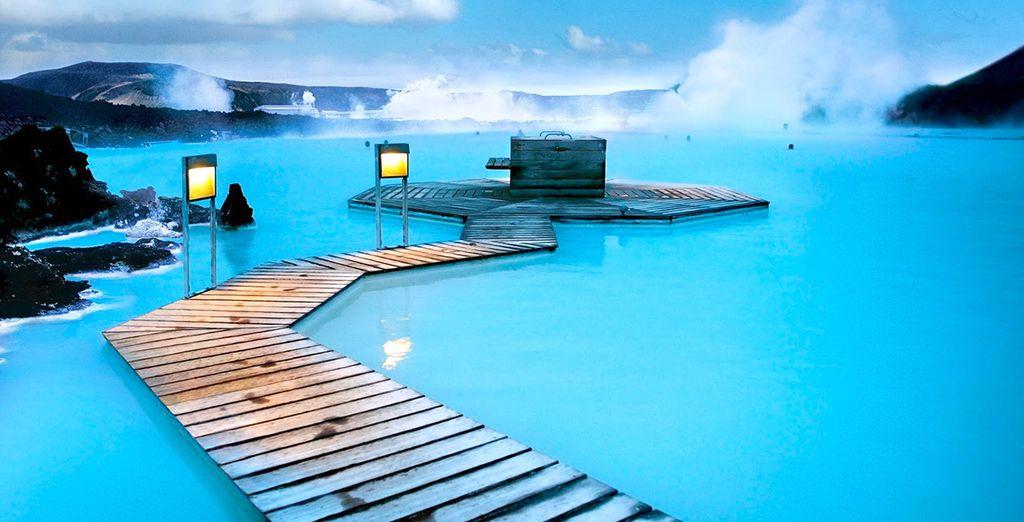 Bathe in the steamy Blue Lagoon