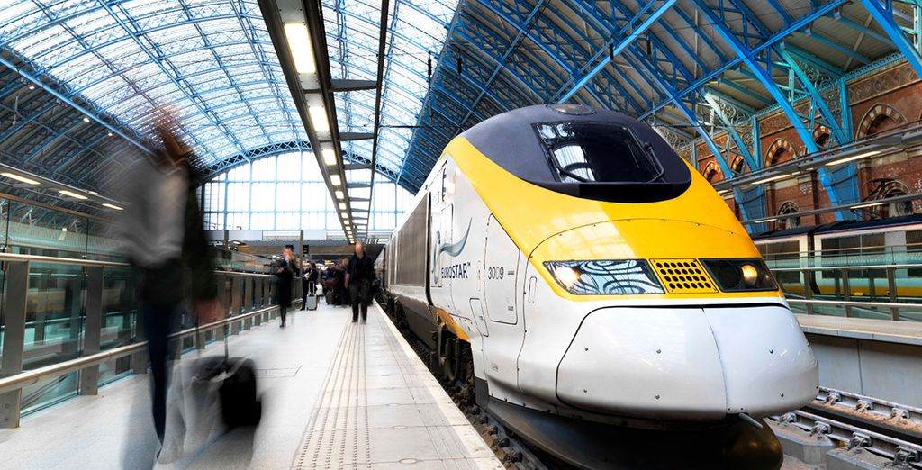 Eurostar travel is included
