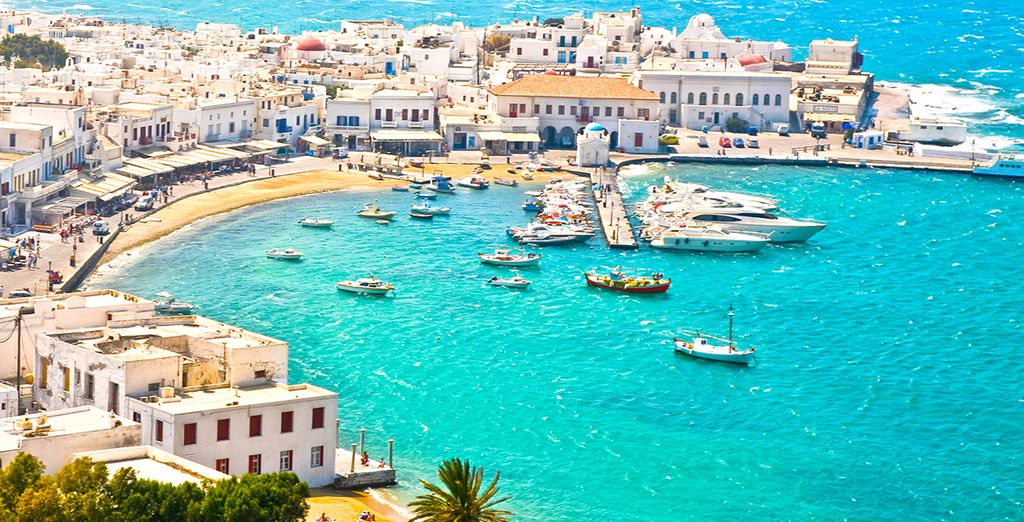 Explore the island's pretty whitewashed villages and beaches