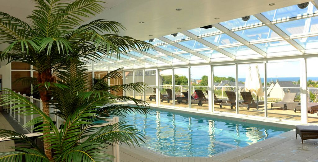 Make a splash in the indoor swimming pool
