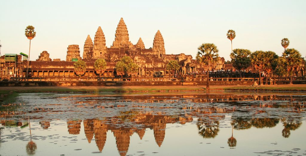 Cross the borders to Cambodia, and see the World Heritage Site of Angkor Wat in Siem Reap