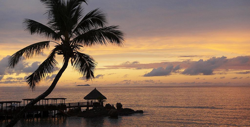 And watch the sun set on this island paradise