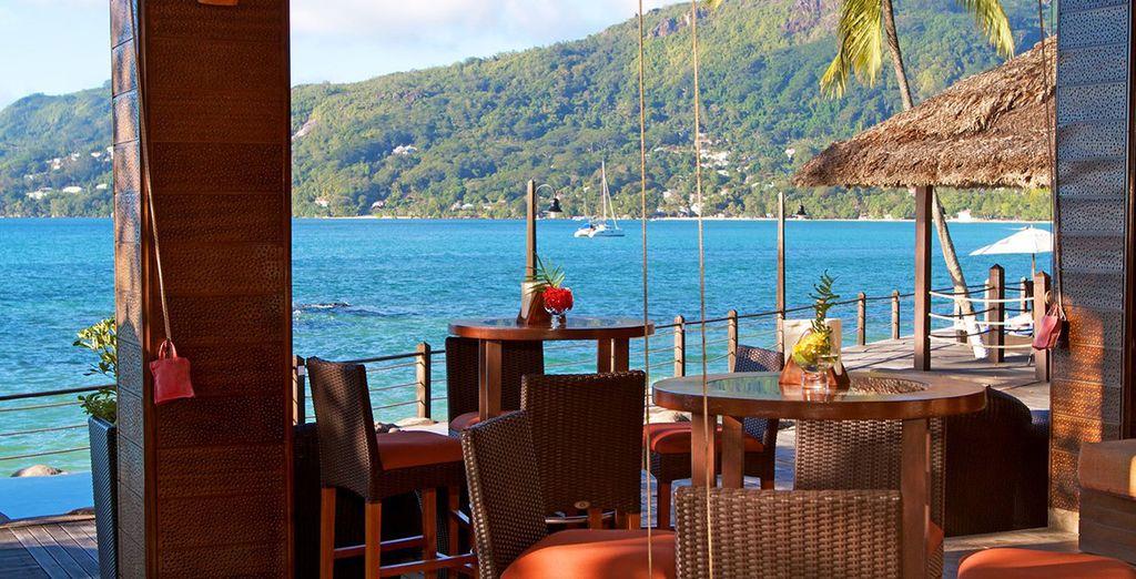 Enjoy drinks overlooking the waters