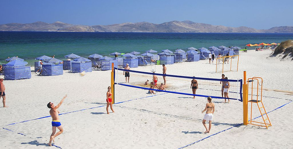Relax or play on the golden sands