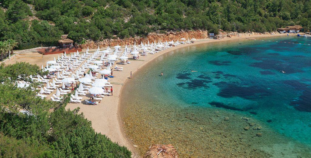 Explore the beach coves of Bodrum