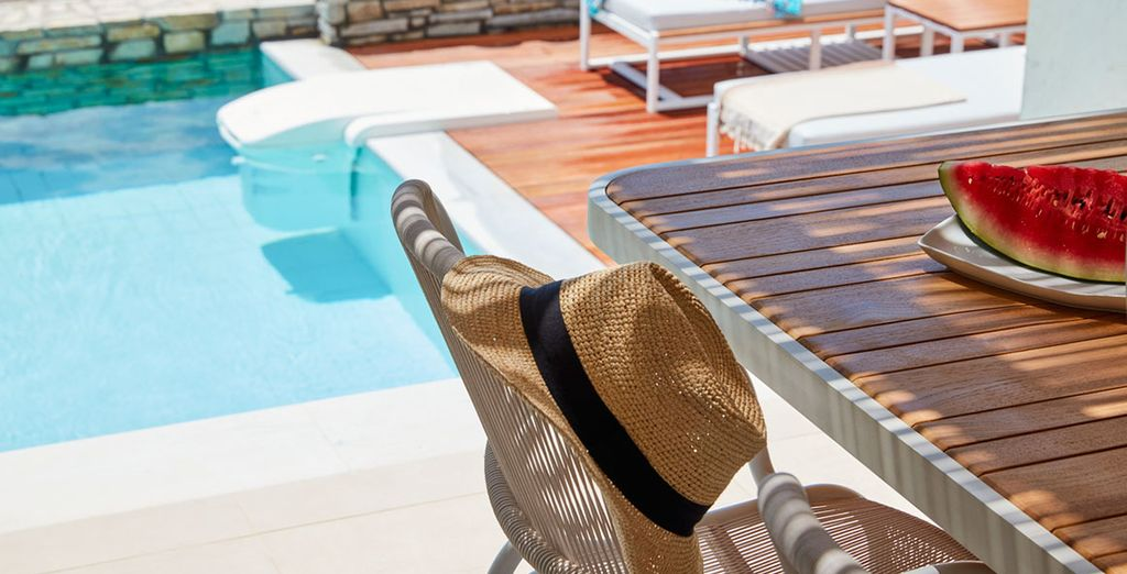 The comfortable floor plans offer expansive indoor and outdoor spaces, as well as a private plunge pool