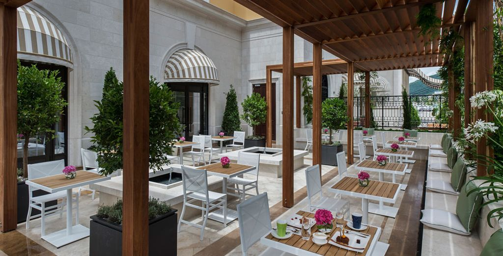 Discover enticing treats at the hotel's restaurant