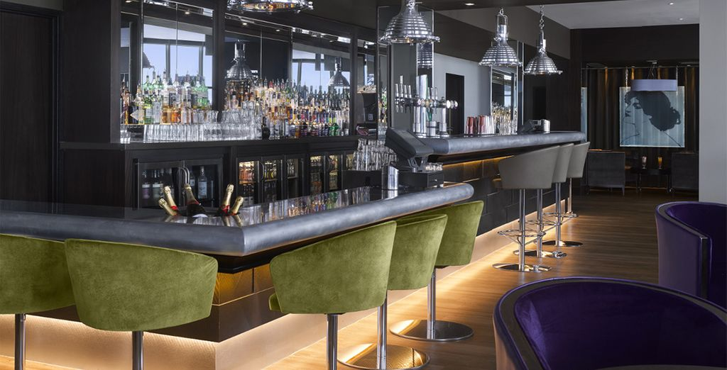 Ending your day at the stylish bar