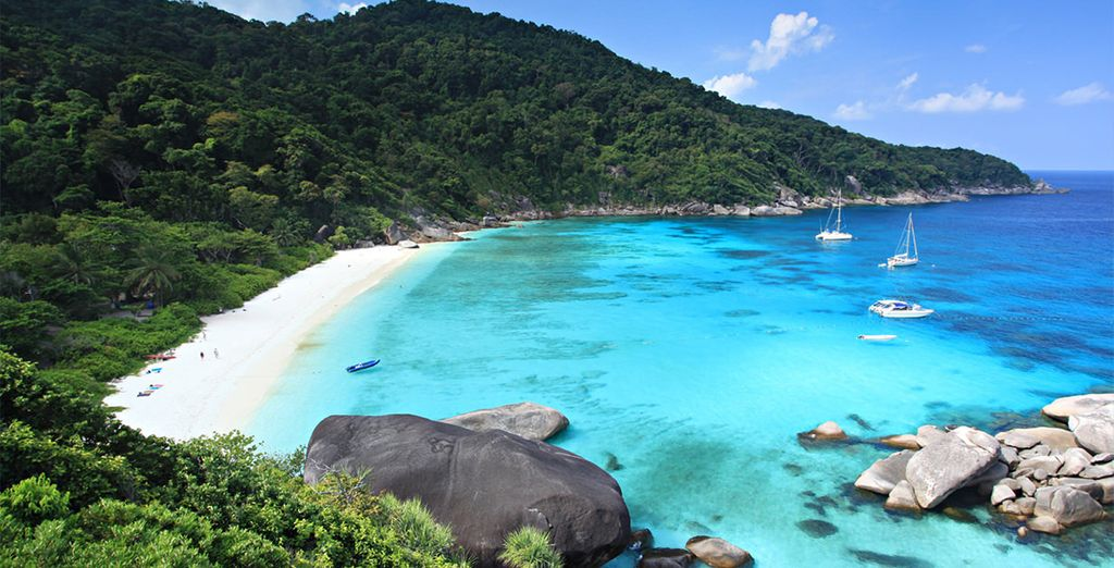 And the Similan Islands are within easy reach too...