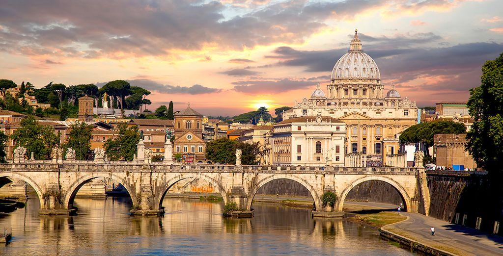 In the beautiful Italian capital