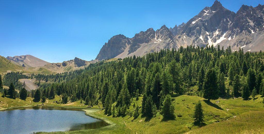 Visit a sundrenched Alpine wonderland