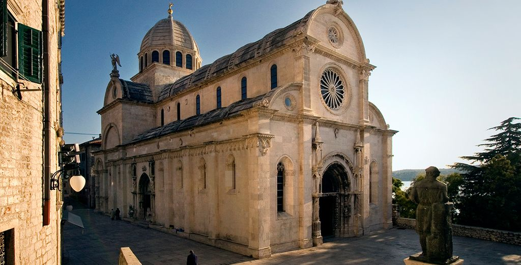 Or head to nearby Šibenik to admire the UNESCO-listed St. James's Cathedral (13km)