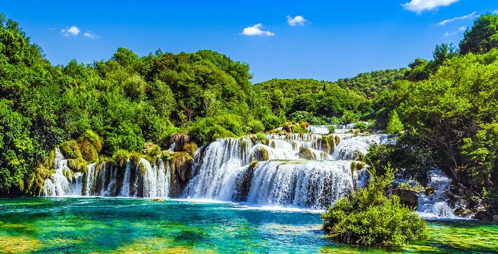 Krka National Park's stunning scenery is just 22km away