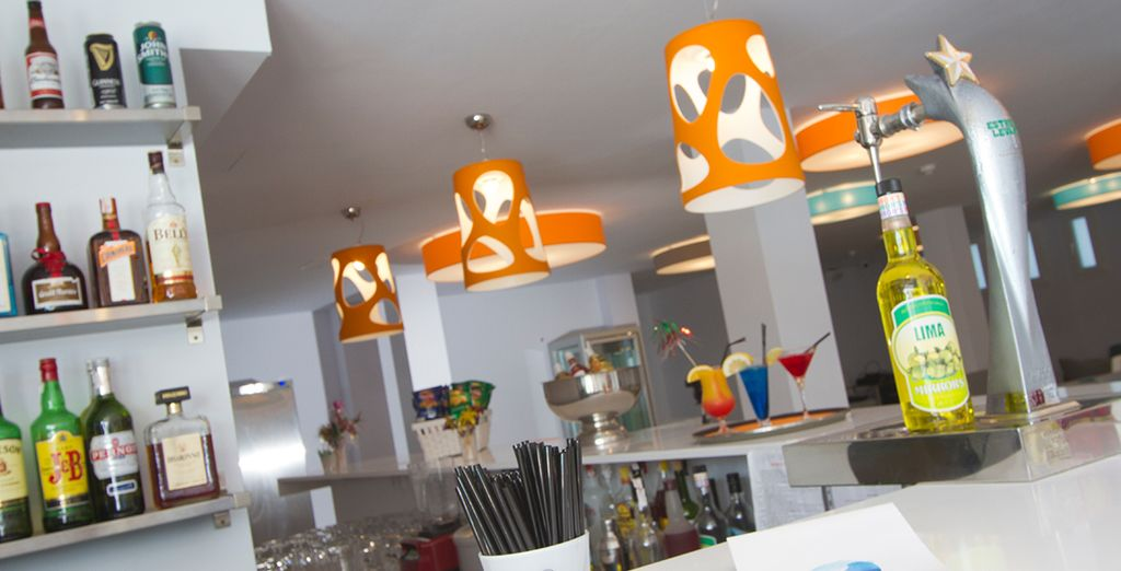 Or visit the bar and lounge for a refreshing and lively cocktail