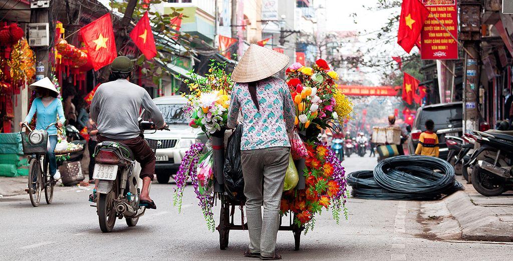 Highlights include a scooter ride through Hanoi