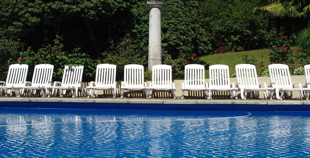 Take a dip in the outdoor pool (seasonal, weather dependent)