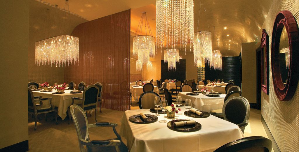 Retreat back to the hotel's elegant surroundings for a gourmet meal in the evening