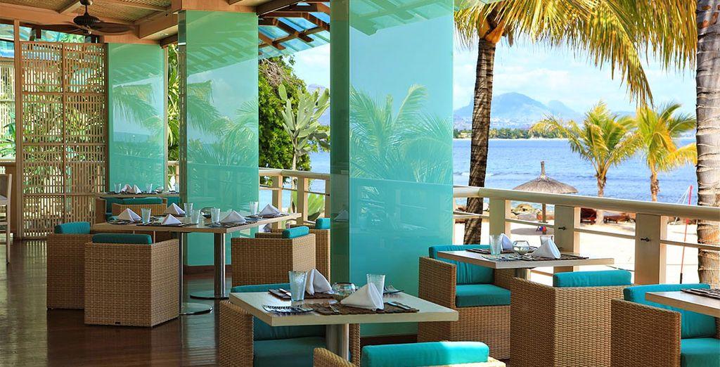 Dine overlooking the ocean