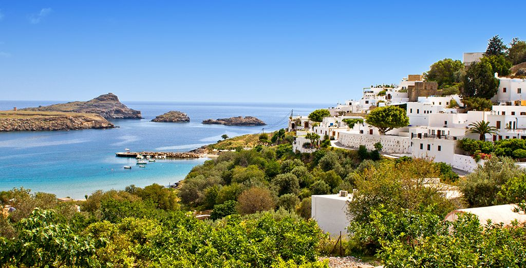 And 60km from stunning Rhodes town
