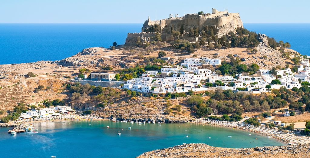 Just 12km from picturesque Lindos