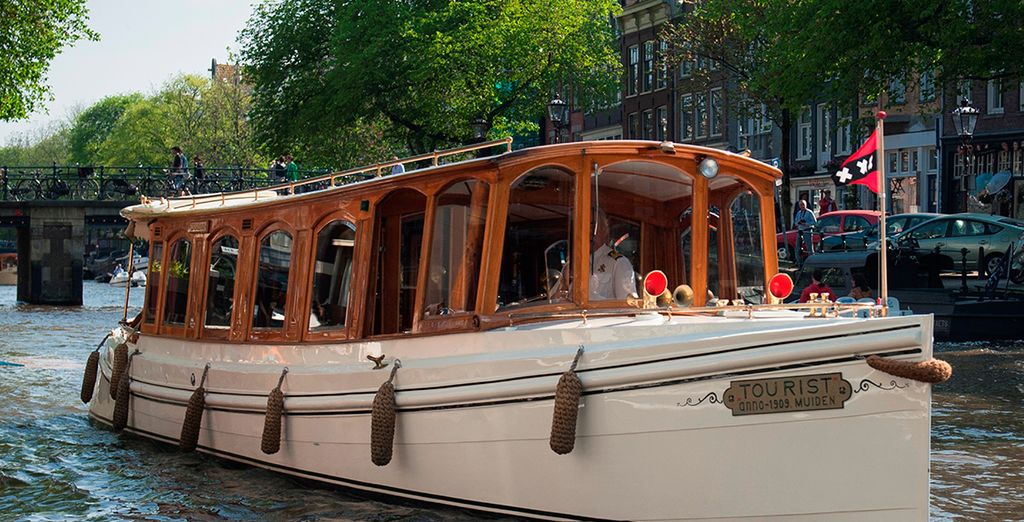 Or glide through the waters in style on the hotel's private canal boat