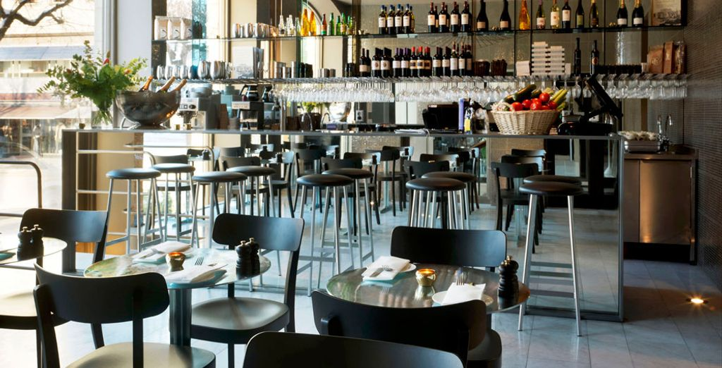 After sightseeing, return to the hotel for a drink in a trendy bar