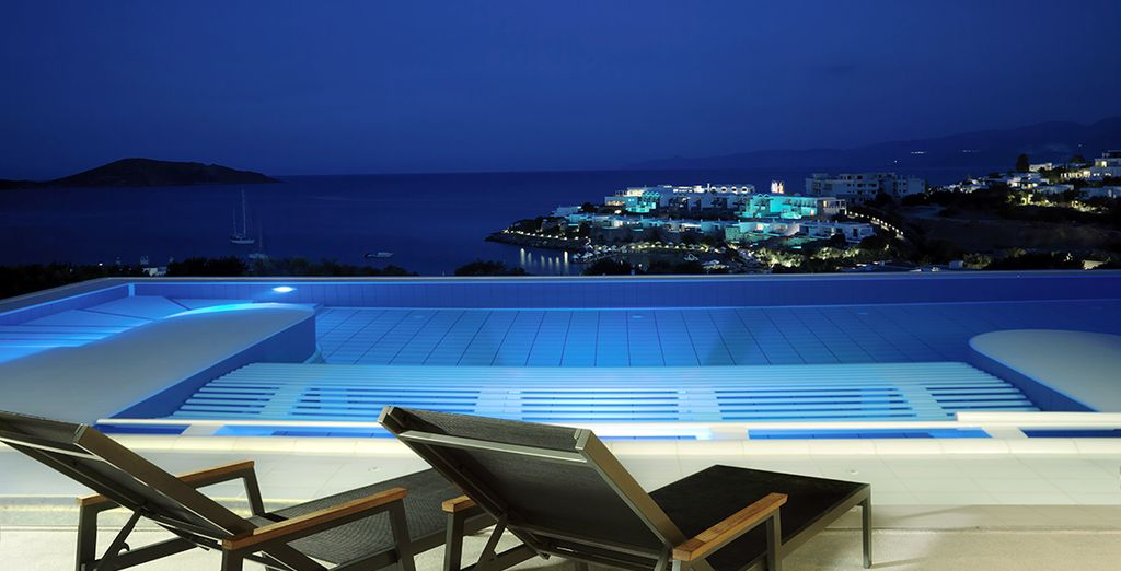 Take in the spectacular view from the spa