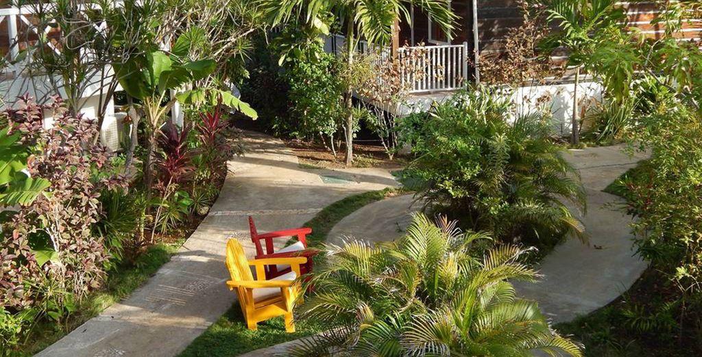 Set amidst lush gardens