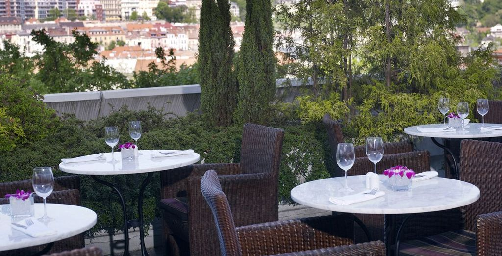 And dine al fresco in the warmer months