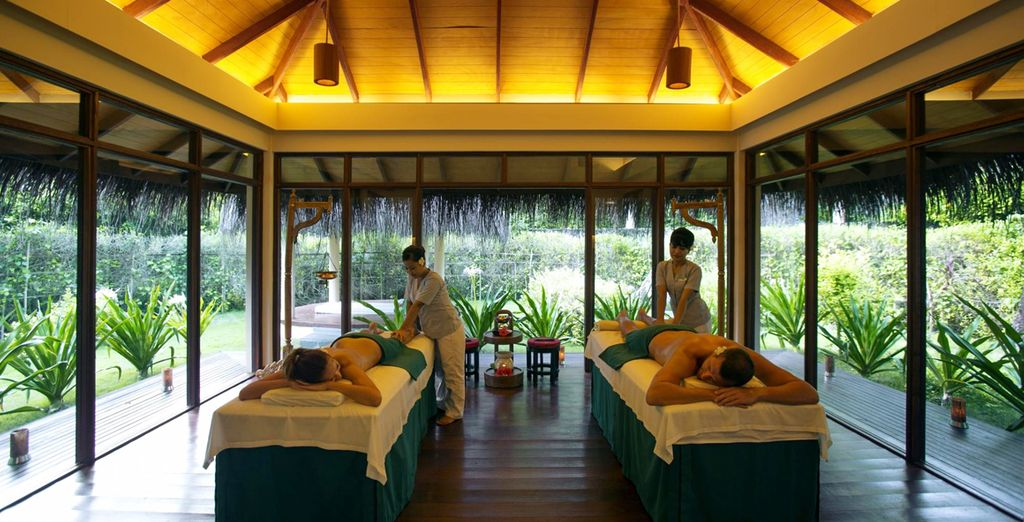 Or escape the heat of the day to indulge in a sensual spa treatment