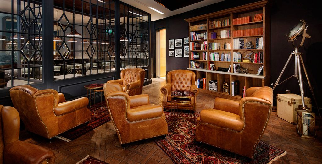 End your evening in the cigar lounge
