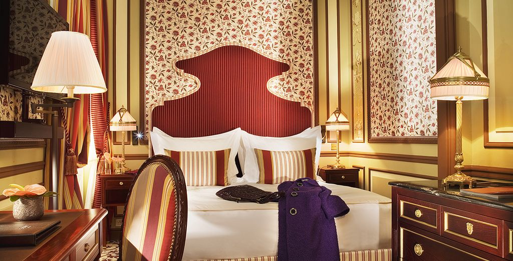Settle into your luxuriously designed Superior Room