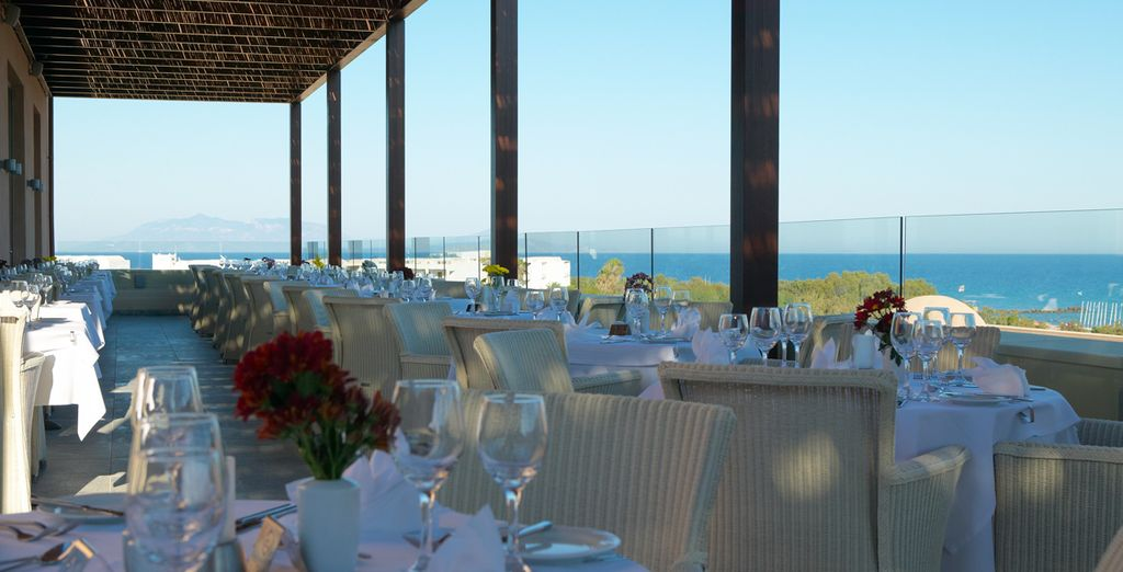 Dine al fresco and admire the blue skies