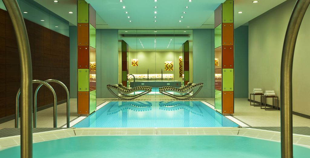 Relax after sightseeing at the sleek wellness area
