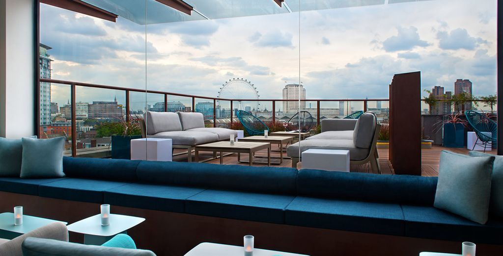 Head to the rooftop bar and admire the views